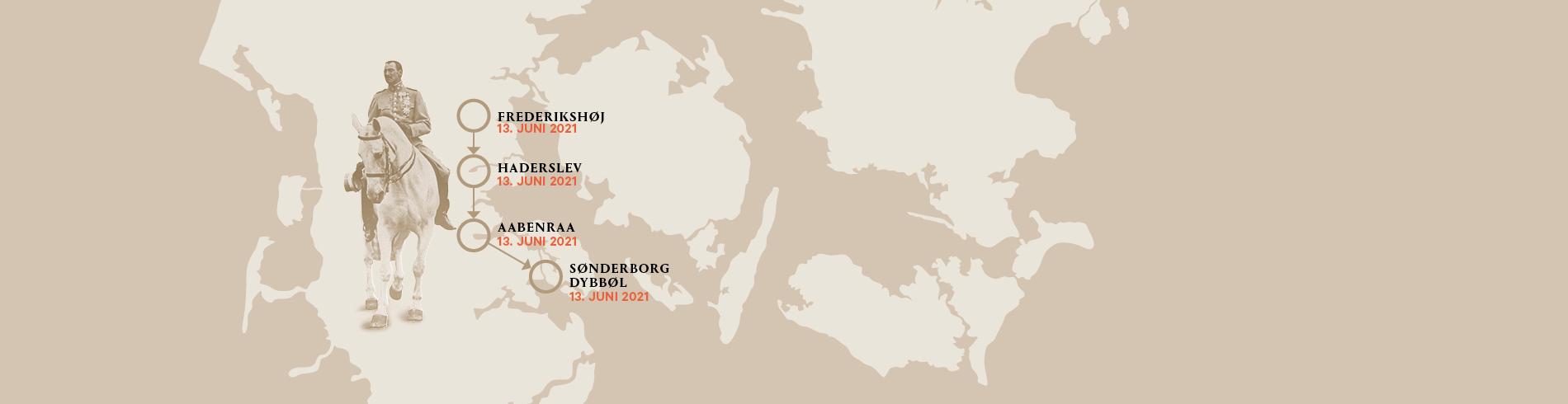 Billeder fra H.M. Dronningens besøg i Sønderjylland 13. juni 2021 cover image